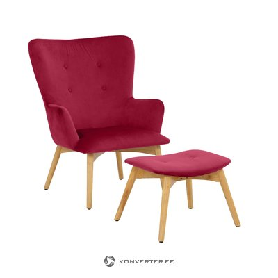 New York Armchair - Velvet Red