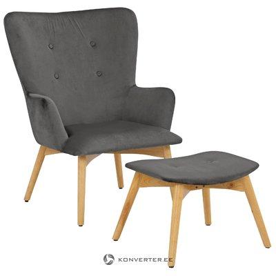 Нью-Йорк кресло - бархатный серый