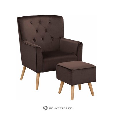 Mandy Armchair - Velvet Brown