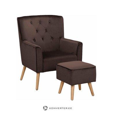 Мэнди кресло - бархатно-коричневый