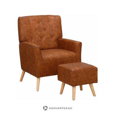 Мэнди кресло - пу коньяк