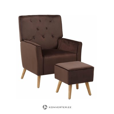 Mandy Recliner - Velvet Brown