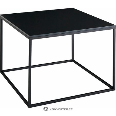 Black metal frame with coffee table