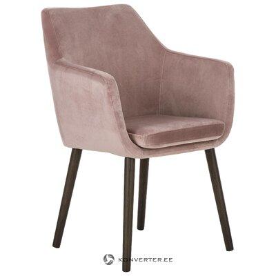 Vaaleanpunainen-musta nojatuoli (actona) (koko, salinäyte)