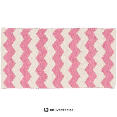 Vaaleanpunainen-valkoinen matto (bora)