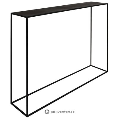 Black metal narrow console table expo (zago) (whole, in box)