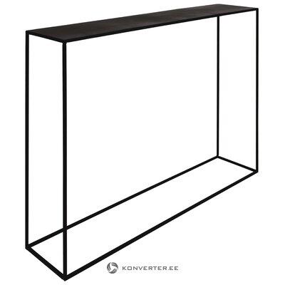 Musta metalli kapea konsolipöytä Expo (Zago) (koko, salinäyte)