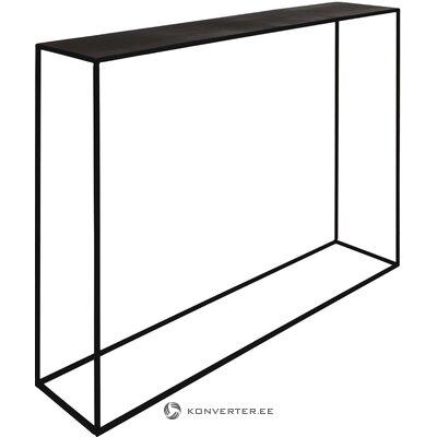Black metal narrow console table expo (zago)