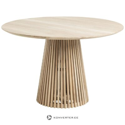 Round solid wood dining table (la forma) (whole, hall sample)