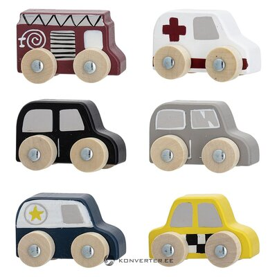 Toy car set 6-piece (bloomingville)