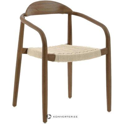 Masīvkoka dizaina krēsls ar degunu (la forma)