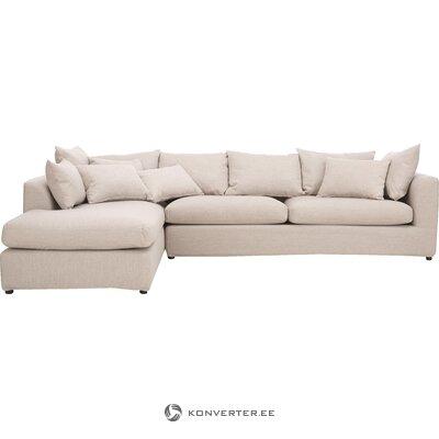 Beige large corner sofa zach (nordified)
