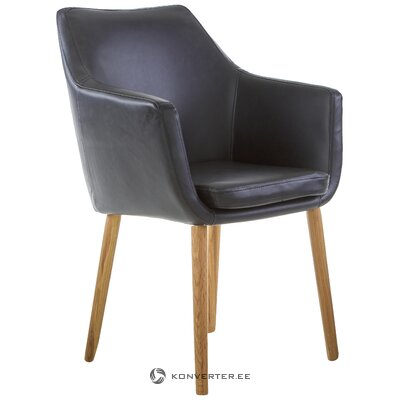 Melns ādas krēsls (actona)