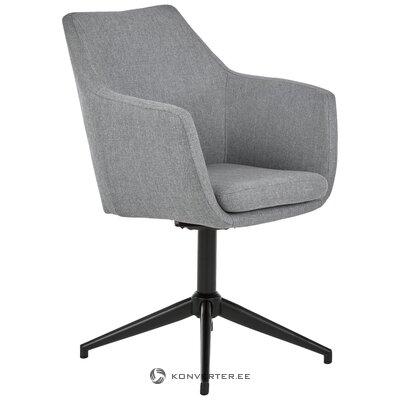 Серо-черный вращающийся стул nora (actona)