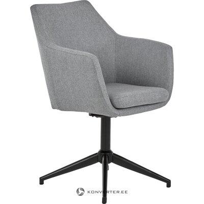 Harmaa-musta kääntyvä tuoli nora (actona)