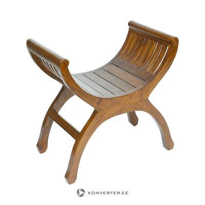 Massiivipuusta valmistettu tuoli (pons) (kokonainen, laatikossa)