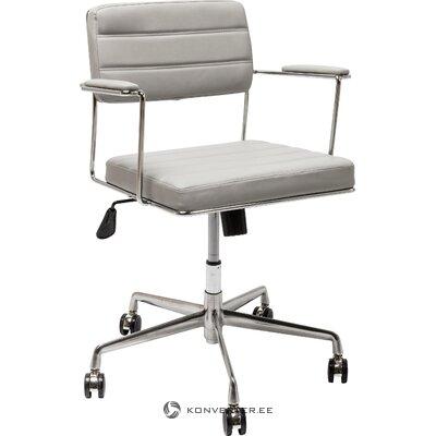 Vaaleanharmaa toimistotuoli dottore (karkea muotoilu)