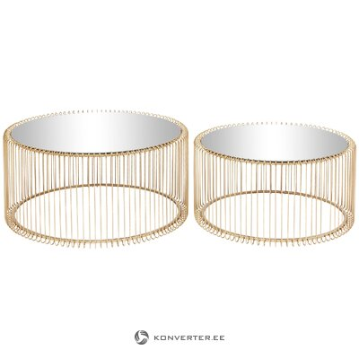 Golden set of coffee tables 2-piece (rough design) (whole, in a box)
