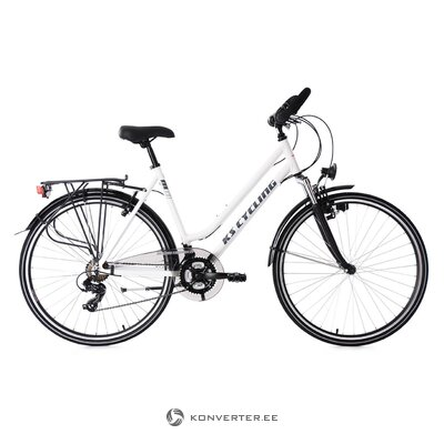 Black and white women's bicycle (see cycling)