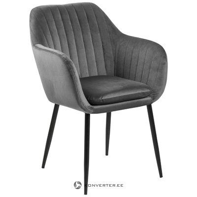Pelēks-melns samta krēsls Emilia (Actona)
