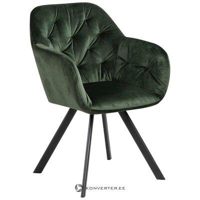 Zaļš samta mīksts krēsls Lucie (Actona)
