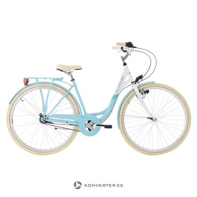 Light blue women's bicycle (see cycling)