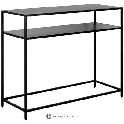 Black metal console table (actona) (defective, hall sample)