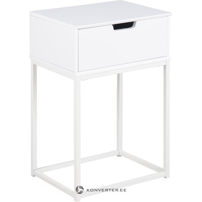 White bedside table mitra (actona) (whole, in box)
