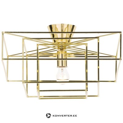 Golden ceiling light cube (globen lighting)