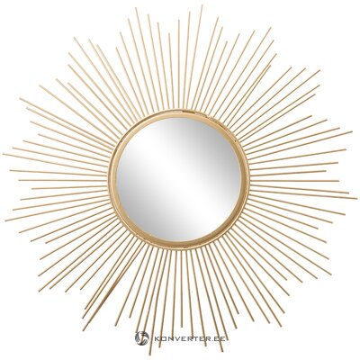 Golden design mirror (brooklyn) (with flaws hall sample)