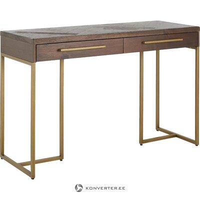 Консольный столик коричнево-золотой (голландская кость)