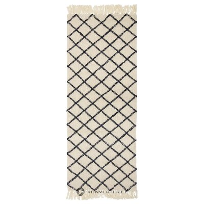 Cream-anthracite rug (bloomingville) (whole, in box)