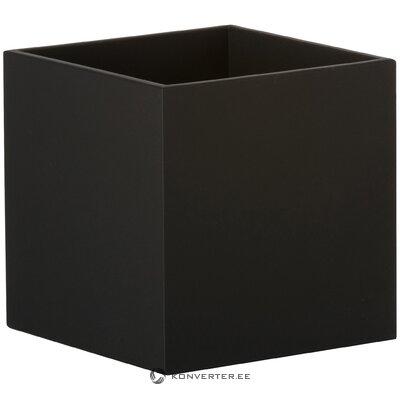 Black wall lamp quad (sollux)
