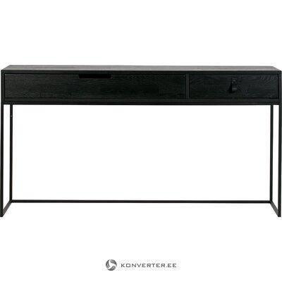 Консольный стол из массива черного дерева с 2 ящиками (woood)
