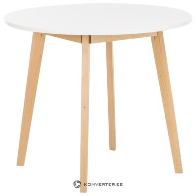 White round dining table (actona) (with flaw, hall sample)