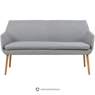 Pilka sofa (aktona) (su grožio defektais., Salės pavyzdys)
