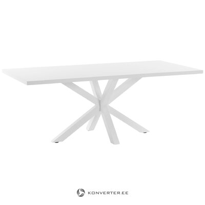 Balts pusdienu galds (la forma)