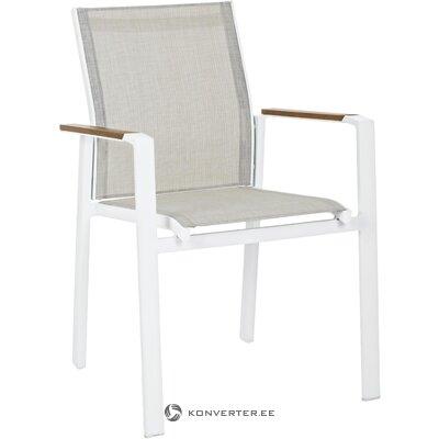 Серо-белый садовый стул elias (bizzotto)