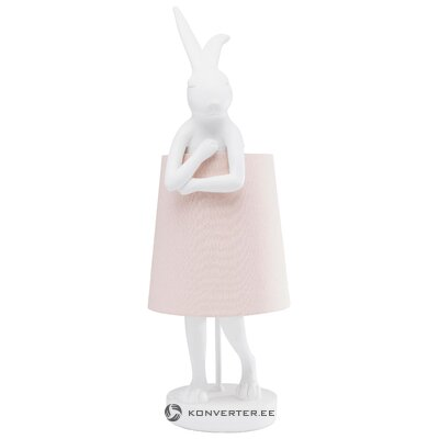 Light pink table lamp rabbit (rough design) (with beauty defect hall sample)