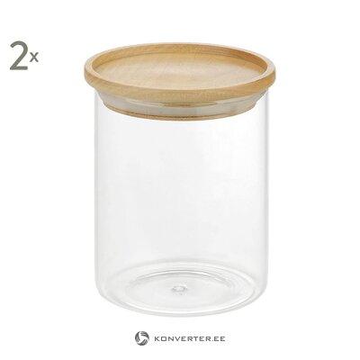 Säilytysastiasarja 2-osainen (kokina) (kokonainen, laatikossa)