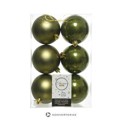 Ziemassvētku rotaslietu komplekts 6 gab (kaemingk) (vesels, kastē)