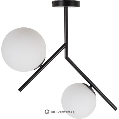 Черно-белый потолочный светильник сферический (ixia)