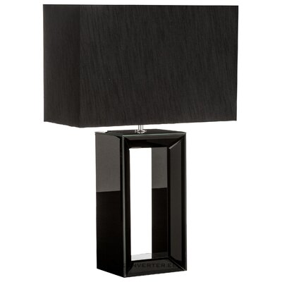 Black table lamp serafina (searchlight) (in box, whole)