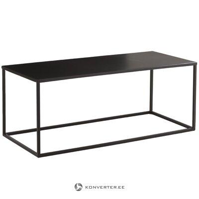 Black metal coffee table (stina) (whole, in a box)