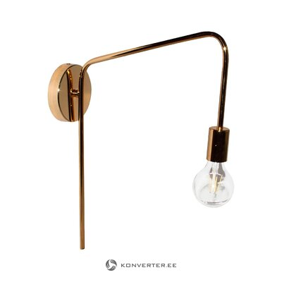 Golden wall lamp (you) (whole, hall sample)