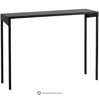 Black narrow table (customform) (hall sample with beauty defect)