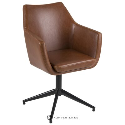 Brown-black swivel chair nora (actona)