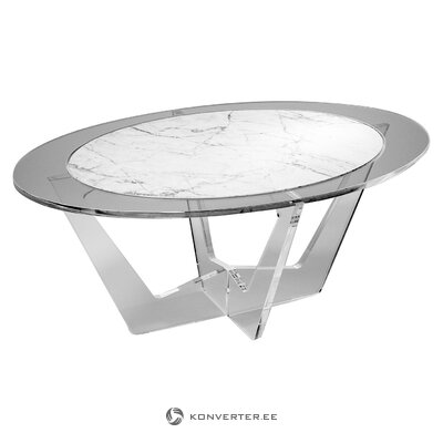 Marble coffee table (madea milano) (with defects., Hall sample)