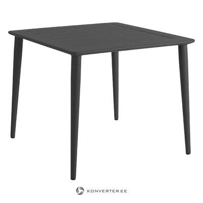 Musta puutarhapöytä (brafab) (kokonainen, laatikossa)