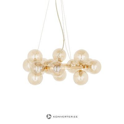 Golden glass pendant luminaire (rydens) (with beauty defects., Hall sample)